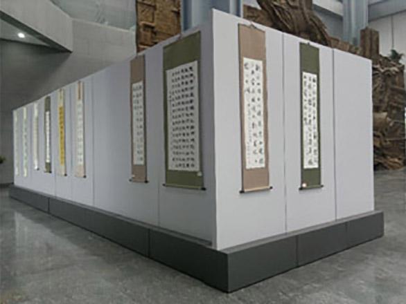 书画展厅木质展板